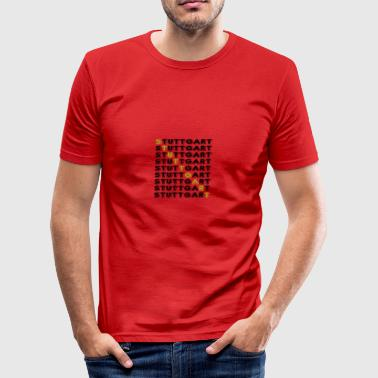 Stuttgart cross - Men's Slim Fit T-Shirt
