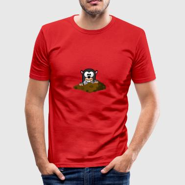 Maulwurf Comic Stil - Männer Slim Fit T-Shirt