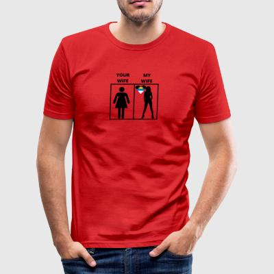 Antigua Barbuda gift my your wife - Men's Slim Fit T-Shirt