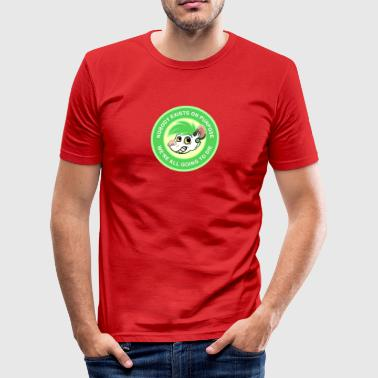 NOBODY EXISTS ON PURPOSE - GREEN - Men's Slim Fit T-Shirt