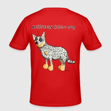 Funny Australian Cattle Dog - Dogs - Men's Slim Fit T-Shirt