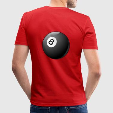 Billiar, prik, billiard8 - Herre Slim Fit T-Shirt