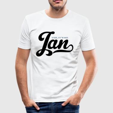 slim fit T-shirt - Nahme,NameShirt,jan,naam,name,nom,verjaardag