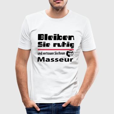 masseur - Männer Slim Fit T-Shirt