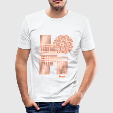 LoFi Fine - Männer Slim Fit T-Shirt