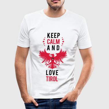 Keep calm and love Tirol schwarz - Männer Slim Fit T-Shirt