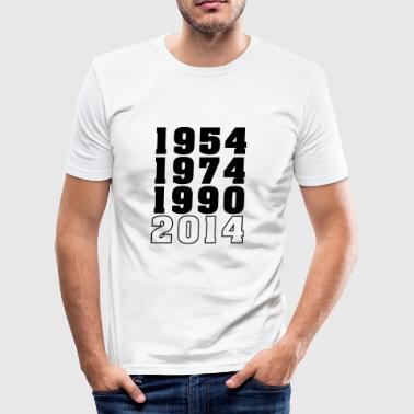 54-74-90-2014 - Männer Slim Fit T-Shirt