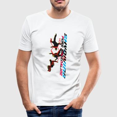 skydiving - pure adrenaline - Männer Slim Fit T-Shirt