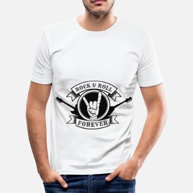 Rocknroll RocknRoll for evigt - Herre Slim Fit T-Shirt