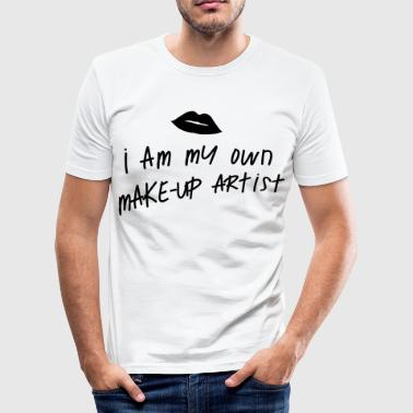I am my own makeup artist Kiss - Men's Slim Fit T-Shirt