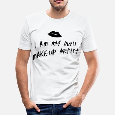 Kiss Makeup I am my own makeup artist Kiss - Men's Slim Fit T-Shirt