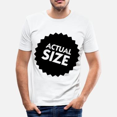 Biometric Actual Size! - Men's Slim Fit T-Shirt