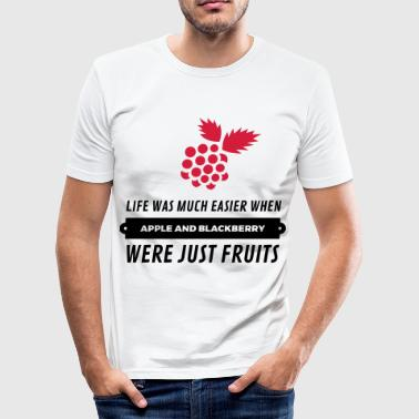 When cell phones were just fruits! - Men's Slim Fit T-Shirt