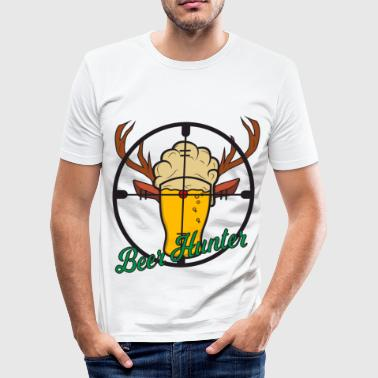 Beer Hunting Beer Hunting Beer Glass Drinking Crosshair Gift - Men's Slim Fit T-Shirt