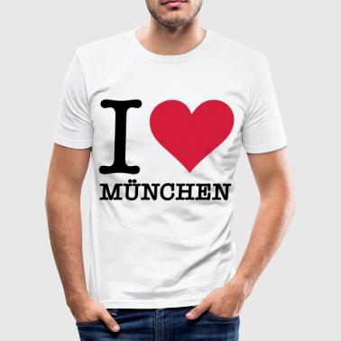 I love Munich - Men's Slim Fit T-Shirt