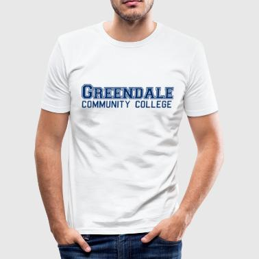 Community Greendale Community Collage - Slim Fit T-skjorte for menn