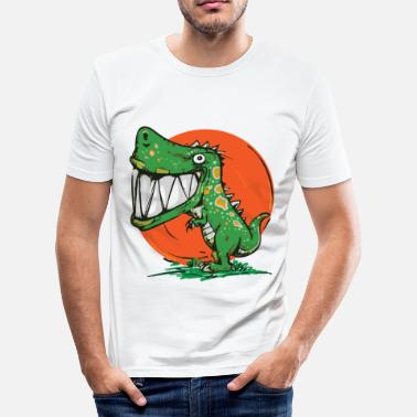 Barn Dinosaur Dinosaurus Rex Design - Slim fit T-skjorte for menn