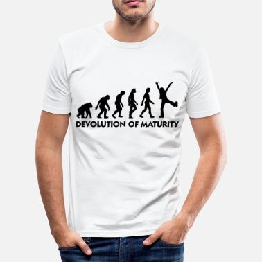 Matured The Evolution of maturity - Men's Slim Fit T-Shirt