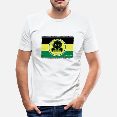 flag stripe jam cirle_v3 de - Männer Slim Fit T-Shirt