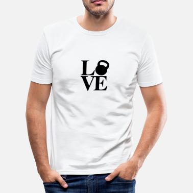 Kettlebell Love Kettlebell Love - Men's Slim Fit T-Shirt