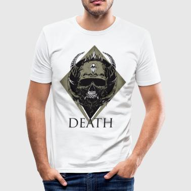 skull death metall lluminati Music hell biker gang - Männer Slim Fit T-Shirt