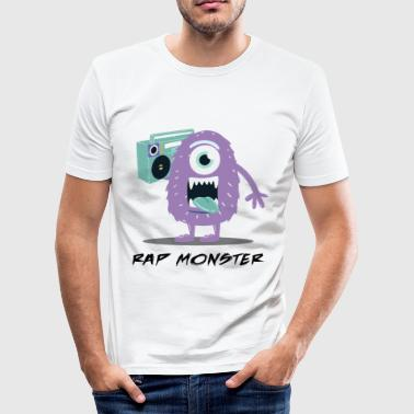 Rap Monster Cartoon niedliche Halloween Monster Boombox Licht - Männer Slim Fit T-Shirt