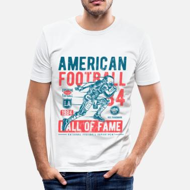 Hall Of Fame Football Hall of Fame - Sports Shirt Design - Slim Fit T-skjorte for menn