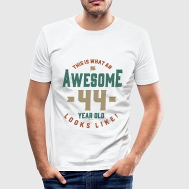 Awesome 44 Year Old - Men's Slim Fit T-Shirt