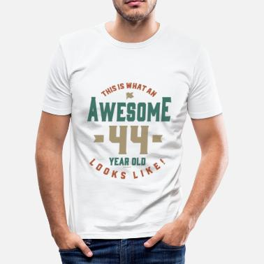 44 Year Old Awesome 44 Year Old - Men's Slim Fit T-Shirt