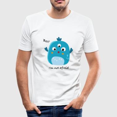 Grappig Boo Ghost Halloween-motief - slim fit T-shirt