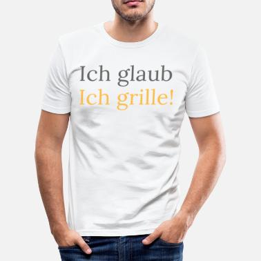 Grillwuerstchen I think I grille shirt Grill Master Collection - Men's Slim Fit T-Shirt
