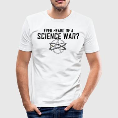 Science Religion War Atheism Gift - Men's Slim Fit T-Shirt