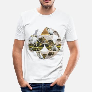 Idyll Circle nature idyll relaxation gift - Men's Slim Fit T-Shirt
