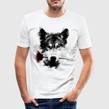 Wolf Wolf Lover - Männer Slim Fit T-Shirt