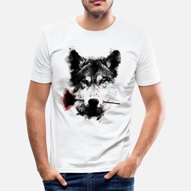 Animal Collection Wolf Lover - Men's Slim Fit T-Shirt