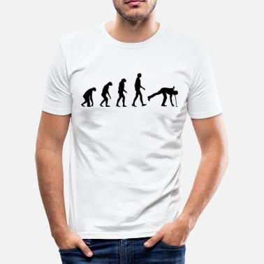 Sprüche Golf Evolution golf - Männer Slim Fit T-Shirt