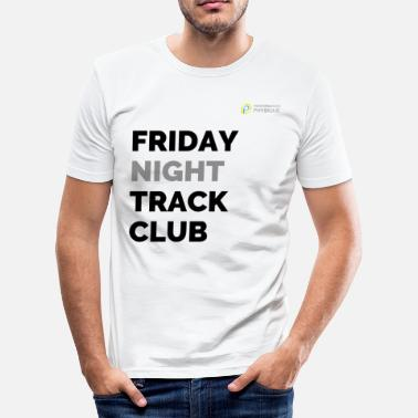Night Club Friday Night Track Club - Grey - Men's Slim Fit T-Shirt