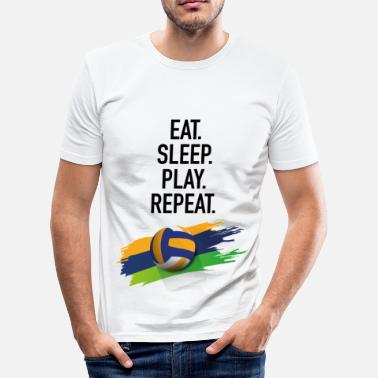 Britsar Eat.Sleep.Play.Repeat. - Slim Fit T-shirt herr