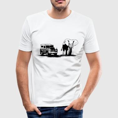 Elefant - Elephant - Safari - Wildlife Ranger Jeep - Männer Slim Fit T-Shirt