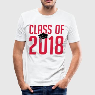 class of 2018 - Schule -Student - Studium - Klasse - Men's Slim Fit T-Shirt