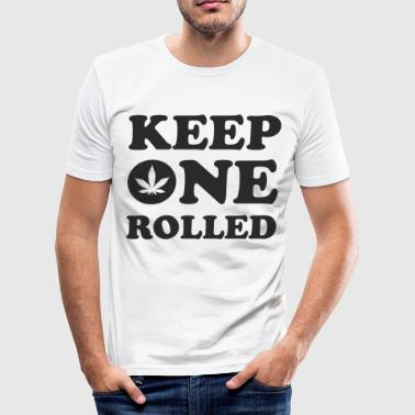 Keep One Rolled - Men's Slim Fit T-Shirt