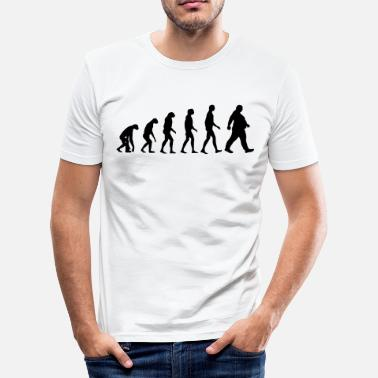 Obese Bold evolution - of whom are obese - obese - Dick funny - Men's Slim Fit T-Shirt