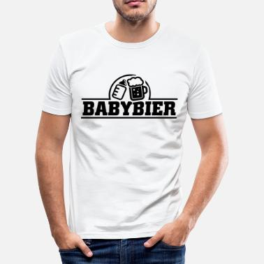Babyparty Baby Bier - Slim fit T-skjorte for menn