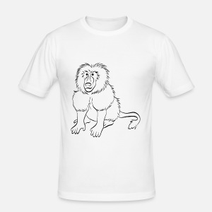 monkey baboon men s premium longsleeve shirt spreadshirt Tibetan Dreadlocks men s slim fit t shirt
