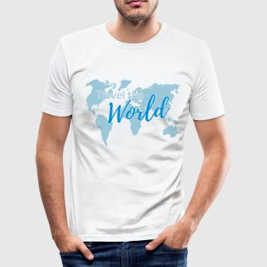 Travel the World 2c - Men's Slim Fit T-Shirt
