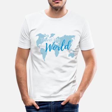 Travel the World 2c - Camiseta ajustada hombre