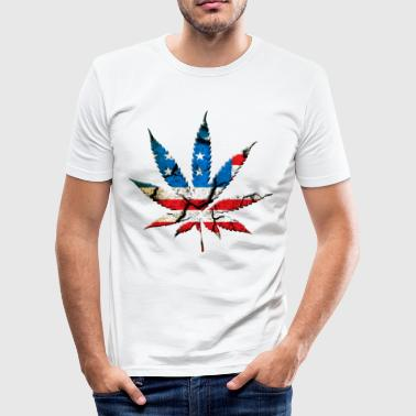 Marihuana Cannabis Gras USA - Männer Slim Fit T-Shirt