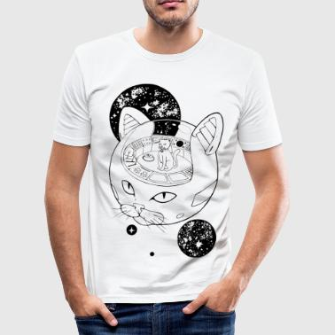 Cosmic Cat Emperor - Slim Fit T-skjorte for menn