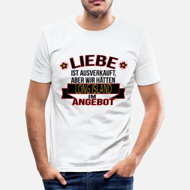 Long Island LONG ISLAND - Männer Slim Fit T-Shirt