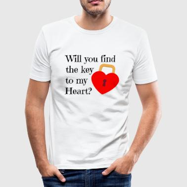 key to my heart - Men's Slim Fit T-Shirt